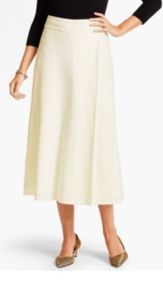 Talbots Ivory Italian Flannel Riding Skirt