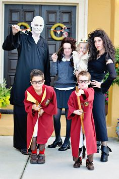 Family Harry Potter cosplay
