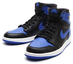 NIKE AIR JORDAN 1 RETRO HIGH OG [BLACK/VARSITY ROYAL/BLACK] 555088-085