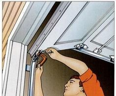 Garage door repair DIY tips. Save money by tuning-up your own garage door. Extend the life of your garage door by doing some basic maintenance. Garage Door Insulation, Garage Door Repair, Garage Door Opener, Garage Doors, Barn Doors, Up House, Garage House, Garage Shop, Diy Garage