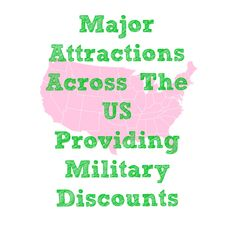 Planning a visit to an army post this year? Here's a great list of major attractions across the US that provide discounts for those in the armed forces #travel