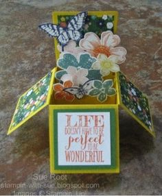Stampin' With Sue: My First Card In A Box