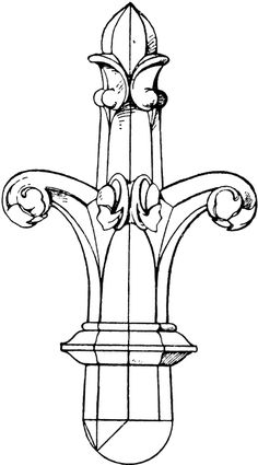 Early Gothic Finial | ClipArt ETC