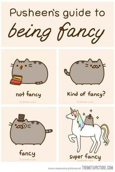 Apparently Pusheen the Cat is a super-popular blog by writer/artist Claire Belton, about a fat cat called Pusheen who eats and sleeps all day long - like every other cat on the planet! Description from pinterest.com. I searched for this on bing.com/images