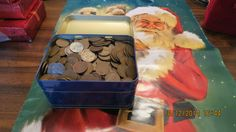 A  4+  Lb Christmas Tin full of Wheat Pennies!!!