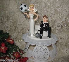 Wedding Reception Sport ~Soccer Ball~ Ball & Chain Cake Topper Sassy Bride Wedding Cake Toppers, Wedding Cakes, Soccer Wedding, Motorcycle Cake, Bridal Decorations, Reception Party, Wedding Groom, Ball Chain, Soccer Ball