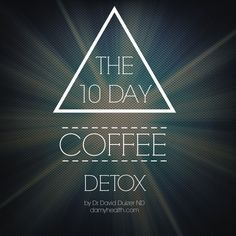 "Have you ever considered eliminating coffee from your daily routine? For some, there can be surprising benefits fromm putting down the cup. Maybe you don't want to quit forever but would like to break your addiction to the ""I need coffee"" morning madness. To read why I (Amy) stopped drinking the brew over 3 years ago, the benefits I experienced & how I did it check out Dr. Duizer's - ""10 Day Coffee Detox"" #AskDrDuizer #Detox #Cleanse #Coffee"
