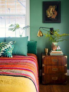 Decor Room, Home Decor Bedroom, Modern Bedroom, Bedroom Ideas, Bedroom Inspiration, Design Bedroom, Eclectic Bedrooms, Trendy Bedroom, Bedroom Bed