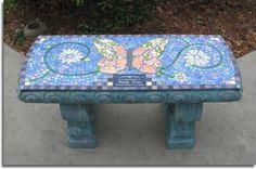 mosaic bench- school art project?