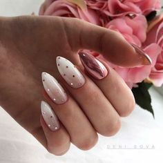 Polka Dot Nails If you love polka dots you're going to love these gorgeous nail designs we've gathered up. Take a look and get inspired by some of the best polka dot nails. Spring Nails, Summer Nails, Cute Nails, Pretty Nails, Gel Nails, Nail Polish, Acrylic Nails, Glitter Acrylics, Acrylic Art
