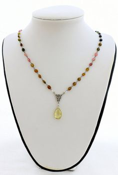 TOURMALINE CITRINE Rosary Style by AncientSunDesigns on Etsy