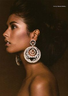 Ashika Pratt. Really pretty girl + I love those earrings!