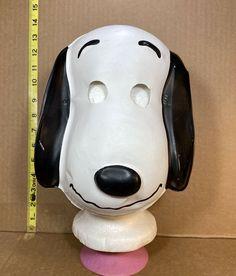 Vintage 1966 Peanuts Snoopy Halloween Mask Collegeville Charlie Brown #UnitedFeatureSyndicateInc #Halloween