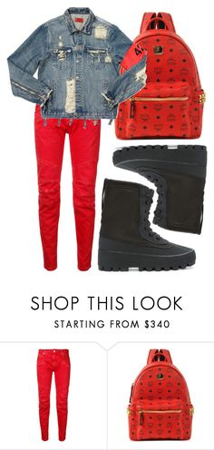 """""""$chool."""" by l0vekennedyy ❤ liked on Polyvore featuring Pierre Balmain, MCM, AMIRI and adidas Originals"""