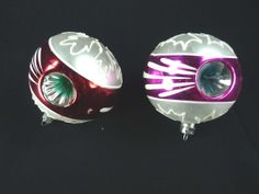 Vintage Double Indented Christmas Ornaments Set of by ChromaticWit, $8.99