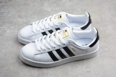 info for 0b67d 95e5c adidas Campus Unisex Street Style Leather Shoes White Black CQ2074-2