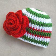 Christmas Baby Hat Christmas Newborn Hat by UnravelledThredz, $17.00