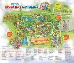 Mapa Parku – ENERGYLANDIA – Rodzinny Park Rozrywki w Zatorze Roller Coaster, Coasters, Gift Wrapping, Park, Games, Europe, Holidays, World, Gift Wrapping Paper