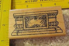 Ornate Pedestal MW Rubber Stamp Momr | eBay (own!)