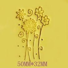 Free shipping Flowers pattern Mini diy soap stamp chaprter seal badge 5*3.2cm(China (Mainland))