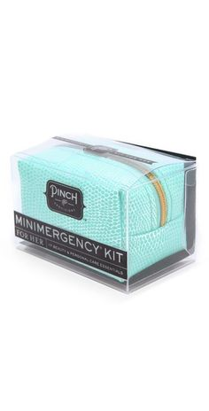 Pinch Provisions Minimergency Kit for Her. Cute for Bridesmaids Cute Gifts, Great Gifts, Minimergency Kit, Azul Tiffany, Clear Nail Polish, Dental Floss, Dental Care, Earring Backs, School Supplies