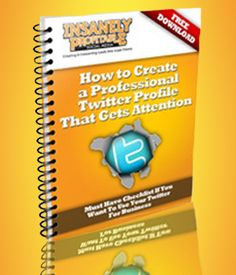 How to Create a Professional Twitter Profile That Gets Attention. http://twitterchecklist.com/