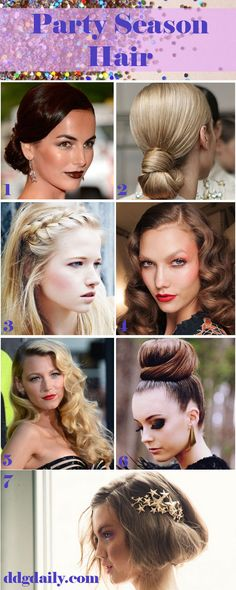 Party Season Hair: A DDG moodboard filled with glamorous locks - dropdeadgorgeousdaily.com