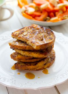 Eggnog Latte French Toast 10 slices bread, I used day old sourdough ...