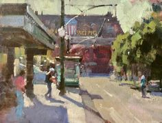 Oil painting art videos on how to paint cityscapes and street scenes, with architecture in the landscape from Randall Sexton, an acclaimed artist and workshop teacher. Shade Trees, Learn Art, Impressionist Art, Still Life Art, Drawing Challenge, Pastel Art, Urban Landscape, Best Artist, Beautiful Paintings