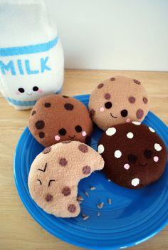 kawaii milk and cookies - Google Search