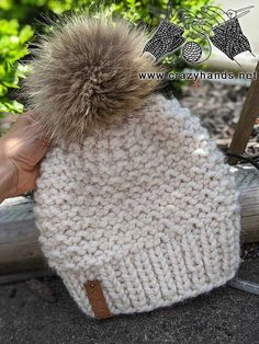 Beanie Knitting Patterns Free, Knitted Mittens Pattern, Knit Beanie Pattern, Beginner Knitting Patterns, Knitting For Beginners, Knitted Hats, Knit Baby Hats, Baby Hat Patterns, Knit Mittens