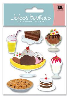 Desserts > Dessert 3D Stickers - Jolee's Boutique: Stickers Galore  $4.39