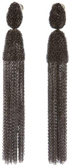 Embellished Drop Earrings - Lyst