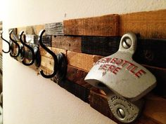 Palletso: Recycled rustic pallet furniture charms and opens your beer