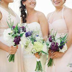 Purple garden bridesmaid bouquets // Vicki Grafton Photography // Bouquet: Scarborough Farm