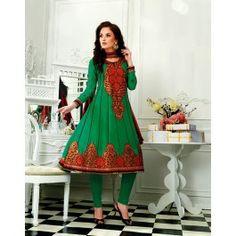 Green Chiffon Salwar Kameez