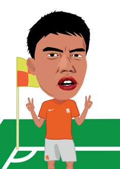#Netherlands #football #club #illustration