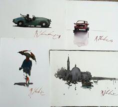 Joseph Zbukvic, workshop end sketches