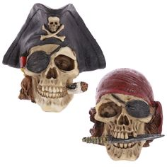 Gothic Pirate Skull Decoration