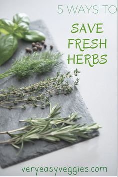 Herb Storage: 5 Ways to Keep Fresh Herbs Do you have an herb garden? Whether you're growing herbs or not, check out these five herb storage methods so that you can always have some ready for cooking or other uses. Hydroponic Gardening, Organic Gardening, Herb Gardening, Indoor Gardening, Indoor Herbs, Cooking With Fresh Herbs, Herb Garden Design, Herbs Garden, Garden Types