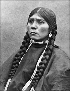 Head and shoulder photo of an unidentified woman from the Nespelem Tribe.