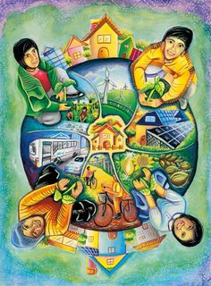 เเเ Art Village, Energy Conservation Poster, Save Water Poster Drawing, Earth Drawings, Peace Poster, Drawing Competition, Environment Painting, Composition Art, School Painting