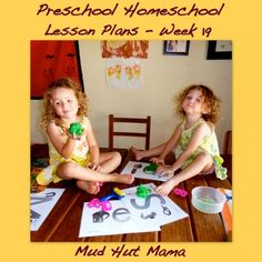 Preschool Homeschool Lesson Plans - Week 19