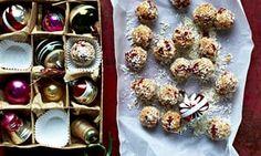 Raw cashew-cardamom goji truffles