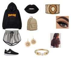 """""""Bunbury music festival"""" by kyleekooz on Polyvore featuring NIKE, MKF Collection, NAKAMOL, Les Néréides, White House Black Market and Lime Crime"""