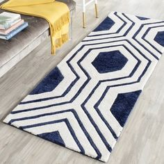 Shop for Safavieh Handmade Chatham Dark Blue/ Ivory Wool Rug (2'3 x 7'). Get free shipping at Overstock.com - Your Online Home Decor Outlet Store! Get 5% in rewards with Club O!