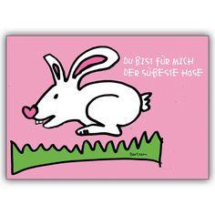 Osterhasen karte nicht nur zum Osterfest: Du bist für mich der süßeste Hase 1