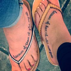 Mother and Daughter Tattoos/pinterest ...with my daughters P & Z