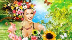 девушка весна гиф - Поиск в Google
