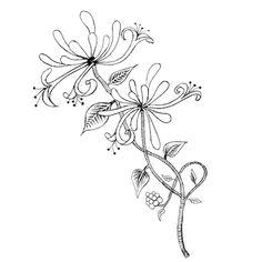 Honeysuckle tattoo - month of june tattoo